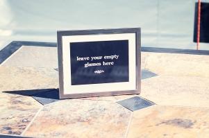 empty glasses framed print